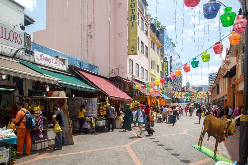 Λίγη περιοχή της Ινδίας σε Σινγκαπούρη στοκ φωτογραφία