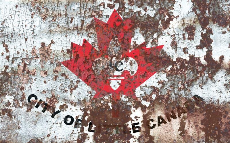 Λίγη σημαία καπνού πόλεων του Καναδά, κράτος Μινεσότας, Πολιτεία στοκ φωτογραφία