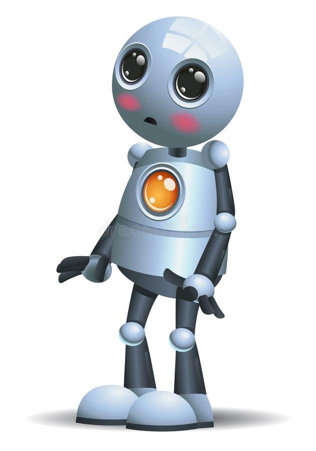 Λίγη συγκίνηση ρομπότ σε ντροπιασμένο διανυσματική απεικόνιση