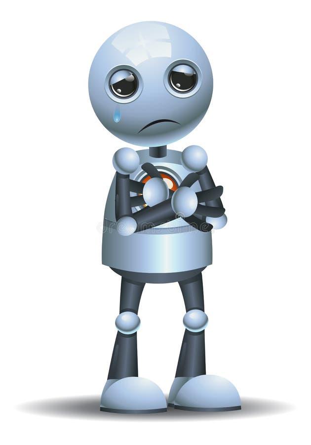 Λίγη συγκίνηση ρομπότ σε περίλυπο απεικόνιση αποθεμάτων