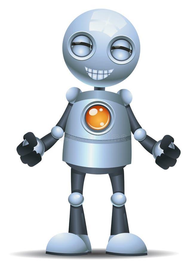 Λίγη συγκίνηση ρομπότ στο πρόσωπο χαμόγελου διανυσματική απεικόνιση