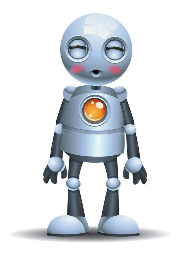 Λίγη συγκίνηση ρομπότ στο φίλημα του προσώπου ελεύθερη απεικόνιση δικαιώματος