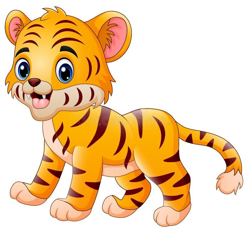 Λίγη τίγρη κάνει έναν ευτυχή διανυσματική απεικόνιση