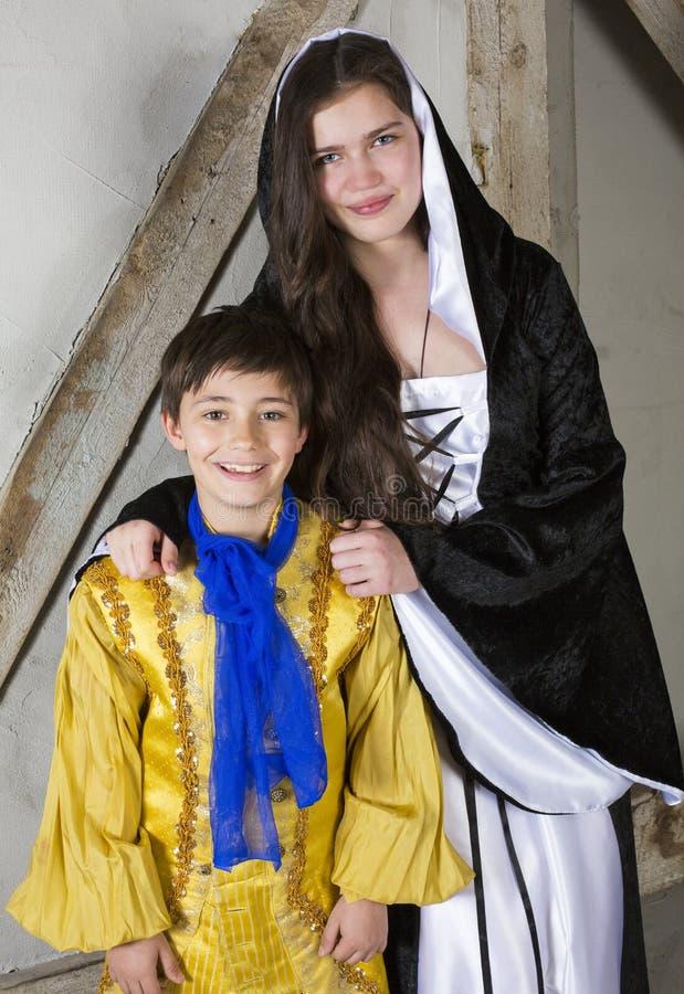 Λίγοι πρίγκηπας και πριγκήπισσα στοκ φωτογραφία με δικαίωμα ελεύθερης χρήσης