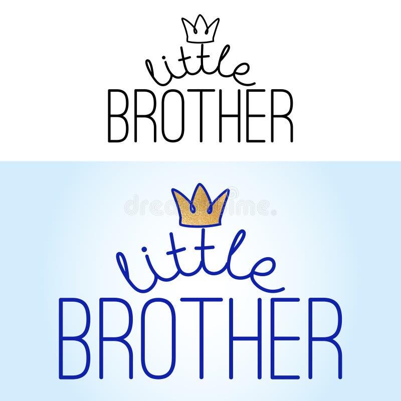 Λίγος αδελφός - χειροποίητη καλλιγραφία ελεύθερη απεικόνιση δικαιώματος