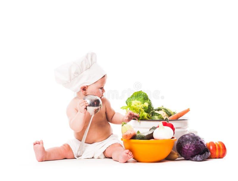 Λίγος αρχιμάγειρας μαγειρεύει στοκ φωτογραφία με δικαίωμα ελεύθερης χρήσης