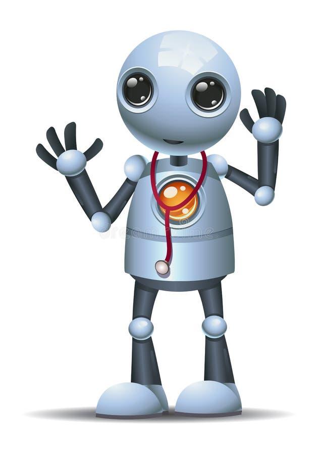 Λίγος γιατρός ρομπότ ελεύθερη απεικόνιση δικαιώματος