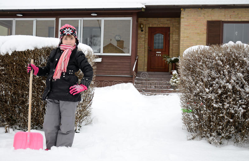 λίγος εργαζόμενος χιονιού στοκ φωτογραφίες με δικαίωμα ελεύθερης χρήσης