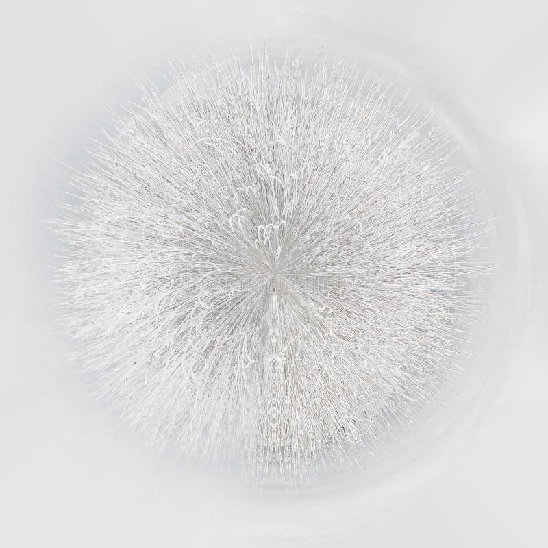 Λίγος πλανήτης σφαίρα 360 βαθμού η περιοχή κοντά να κάνει σκι Ελβετία πανοράματος στο χειμώνα απεικόνιση αποθεμάτων