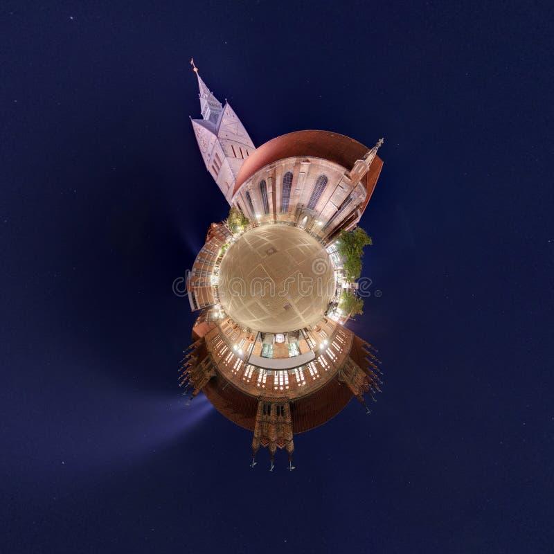 Λίγος πλανήτης Αννόβερο Marktkirche στοκ εικόνα με δικαίωμα ελεύθερης χρήσης