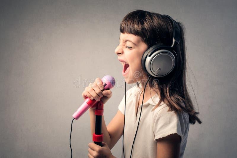 Λίγος τραγουδιστής στοκ εικόνες με δικαίωμα ελεύθερης χρήσης