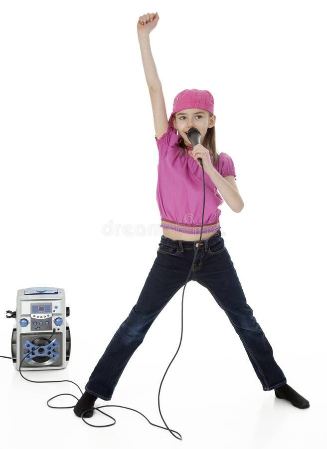 Λίγος Karaoke τραγουδιστής στοκ εικόνες