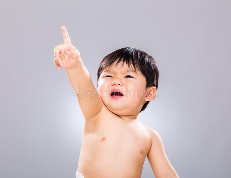 Λίγο δάχτυλο αγοράκι πρός τα πάνω στοκ φωτογραφία με δικαίωμα ελεύθερης χρήσης