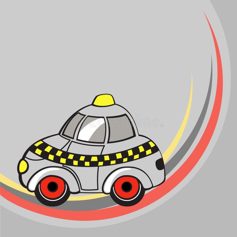 Λίγο αστείο αυτοκίνητο ταξί απεικόνιση αποθεμάτων