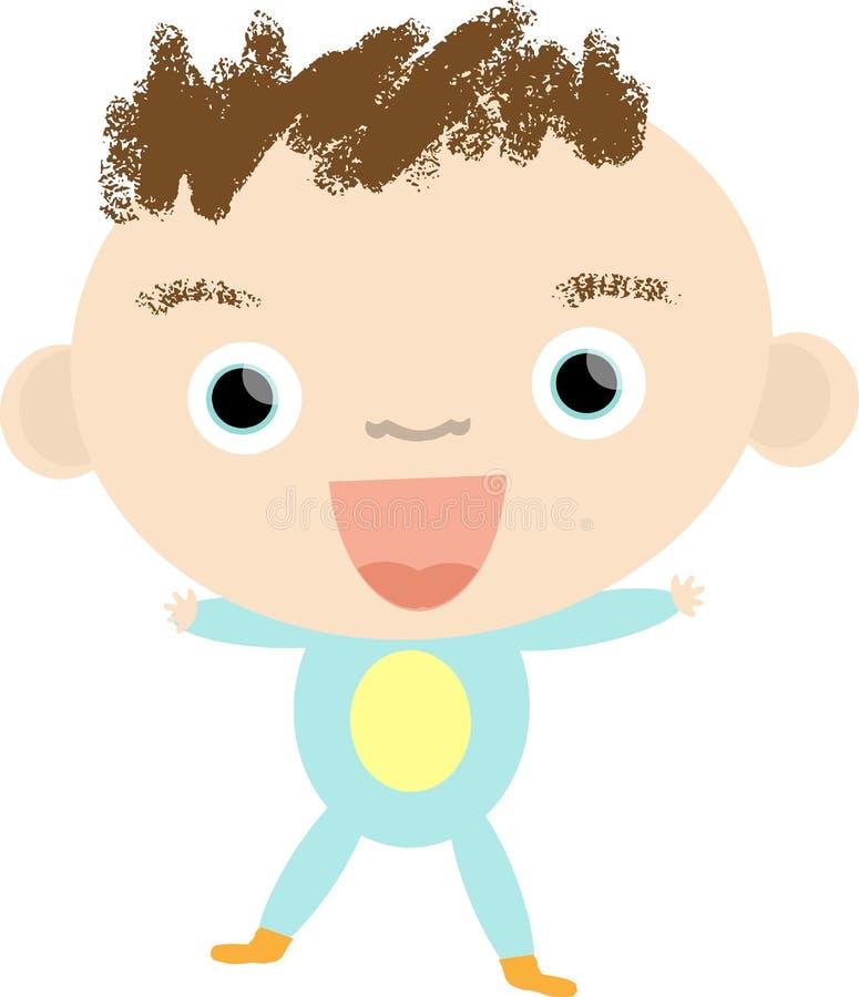 Λίγο ευτυχές χαριτωμένο μωρό στις πυτζάμες στοκ εικόνα με δικαίωμα ελεύθερης χρήσης