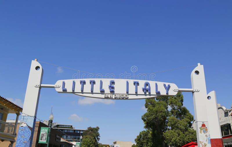 Λίγο σημάδι της Ιταλίας στο Σαν Ντιέγκο στοκ εικόνα με δικαίωμα ελεύθερης χρήσης