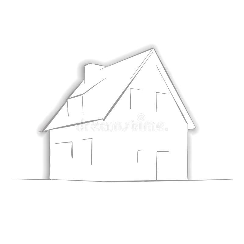 Λίγο σχέδιο σπιτιών με το χέρι απεικόνιση αποθεμάτων