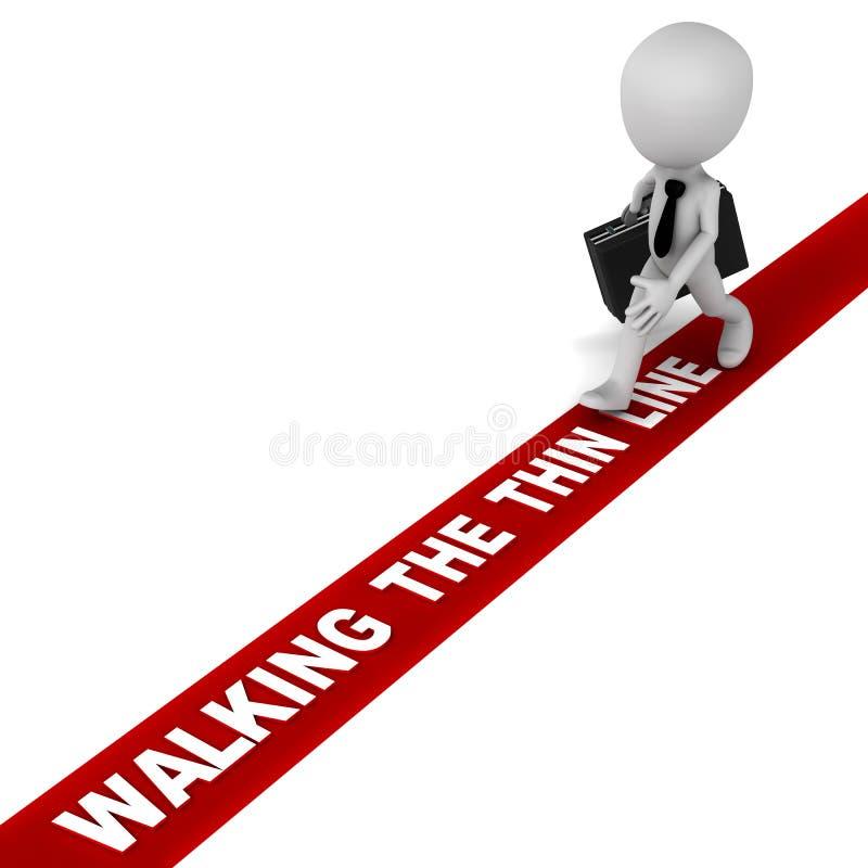 Περπάτημα της λεπτής γραμμής διανυσματική απεικόνιση