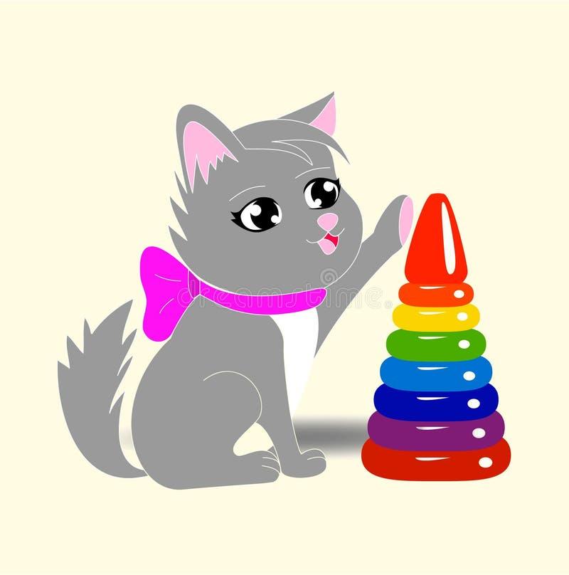 Λίγο χαριτωμένο γατάκι στοκ εικόνες