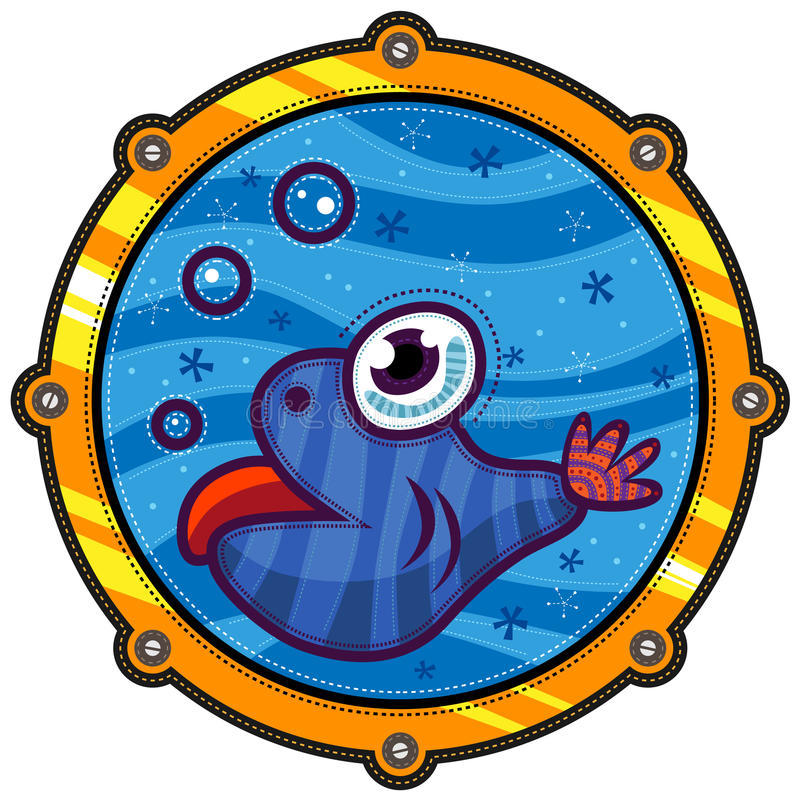 Λίγο ψάρι και φυσαλίδες ελεύθερη απεικόνιση δικαιώματος