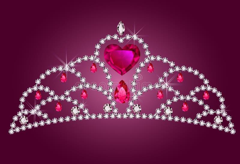 Λίγο diadem πριγκηπισσών διανυσματική απεικόνιση