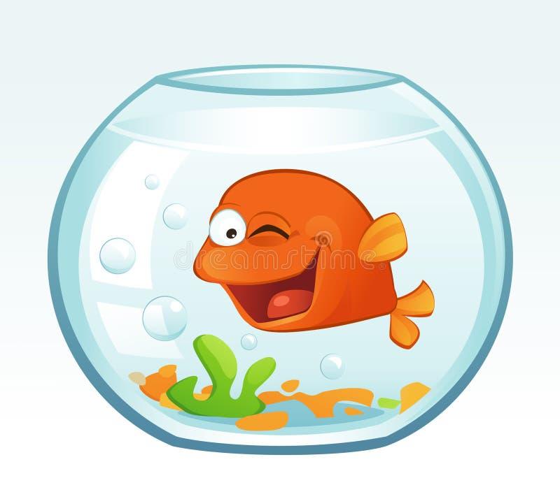 Λίγο Goldfish (κλείσιμο του ματιού) απεικόνιση αποθεμάτων