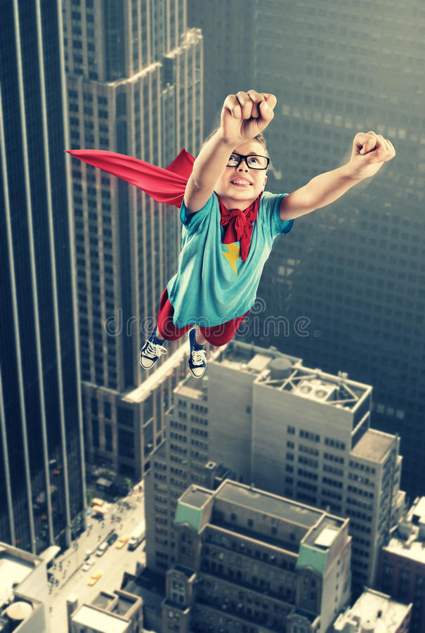 Λίγο Superhero στοκ εικόνα με δικαίωμα ελεύθερης χρήσης