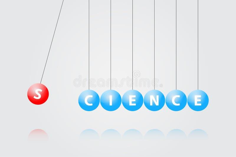 Λίκνο Newton διανυσματική απεικόνιση