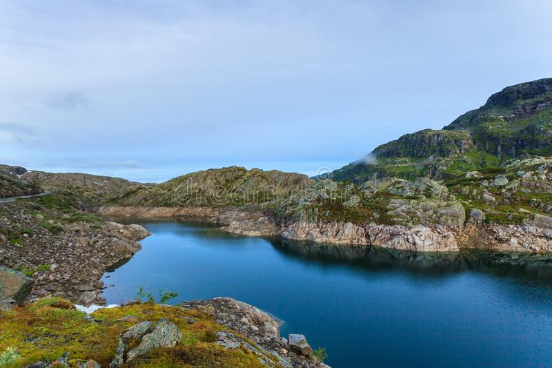 Λίμνες στα βουνά Νορβηγία στοκ φωτογραφία