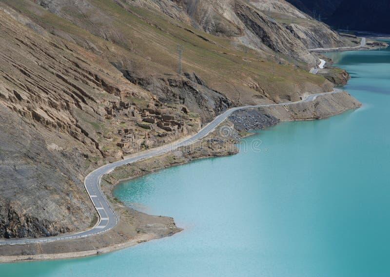 Λίμνες στο Θιβέτ στοκ εικόνα