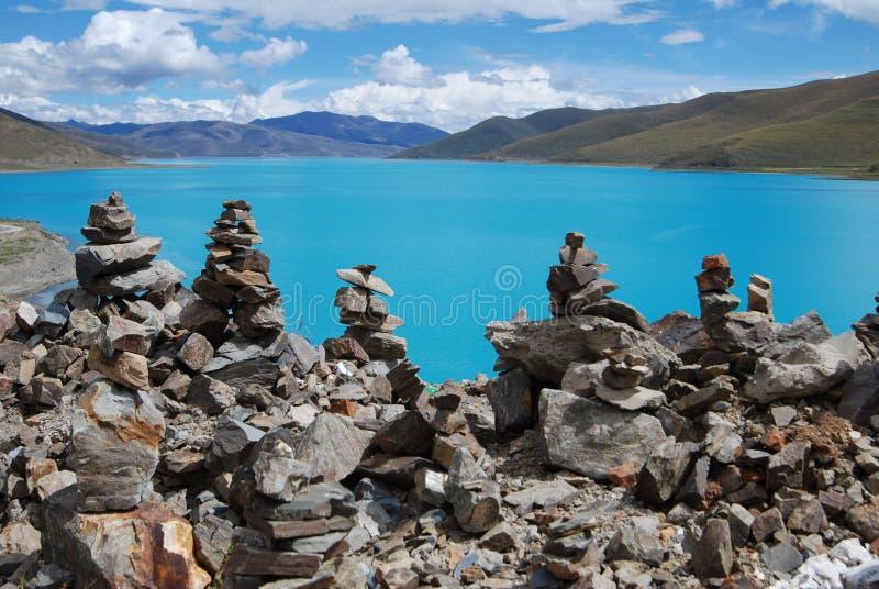 Λίμνες στο Θιβέτ στοκ εικόνα με δικαίωμα ελεύθερης χρήσης