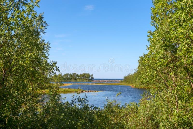 Λίμνες Filippovsky - ένα ιστορικό μνημείο των οικονομικών δραστηριοτήτων του μοναστηριού στοκ εικόνες