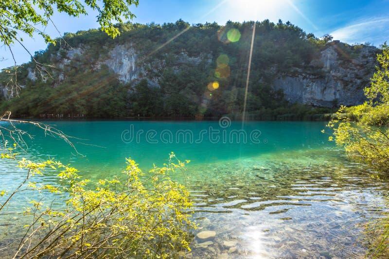 Λίμνες Plitvice, καταρράκτης της Κροατίας Καταπληκτική θέση στοκ φωτογραφία