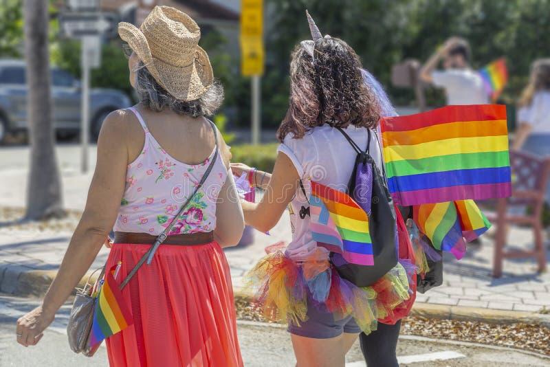 Λίμνη αξίας, Φλώριδα, ΗΠΑ στις 31 Μαρτίου 2019 πριν, παρέλαση υπερηφάνειας στοκ φωτογραφίες