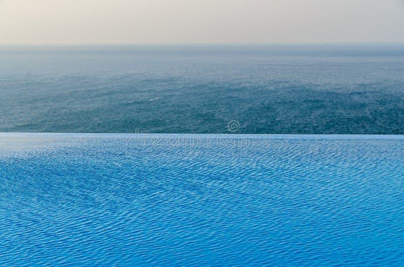 Λίμνη απείρου με την μπλε άποψη νερού κρυστάλλου στον ωκεανό θάλασσας στοκ φωτογραφίες