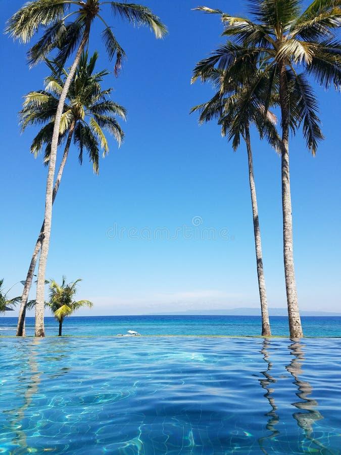 Λίμνη απείρου στο Μπαλί, Ινδονησία στοκ εικόνες