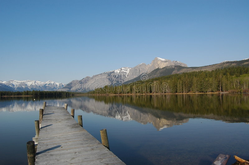 λίμνη αποβαθρών στοκ εικόνα