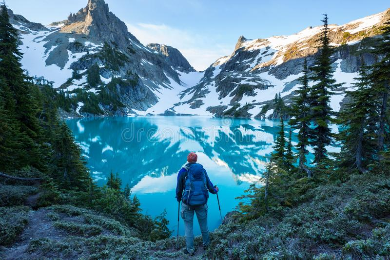Λίμνη βουνών στοκ φωτογραφίες