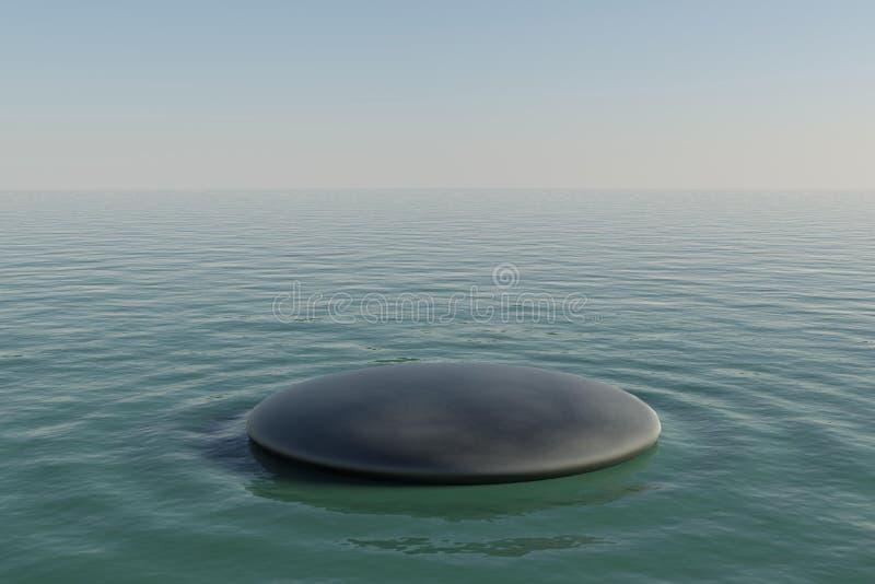 Λίμνη βράχου της Zen ελεύθερη απεικόνιση δικαιώματος