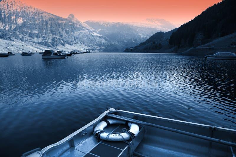 λίμνη Ελβετός εντύπωσης στοκ εικόνες
