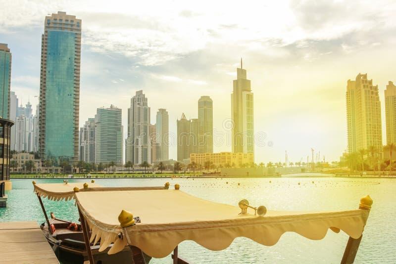 Λίμνη λεωφόρων του Ντουμπάι στοκ εικόνες