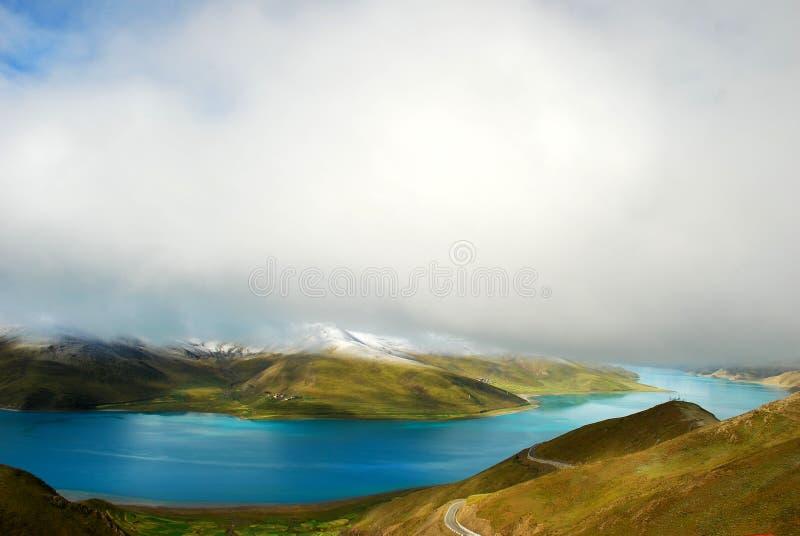 λίμνη Θιβέτ yamdrok στοκ φωτογραφία