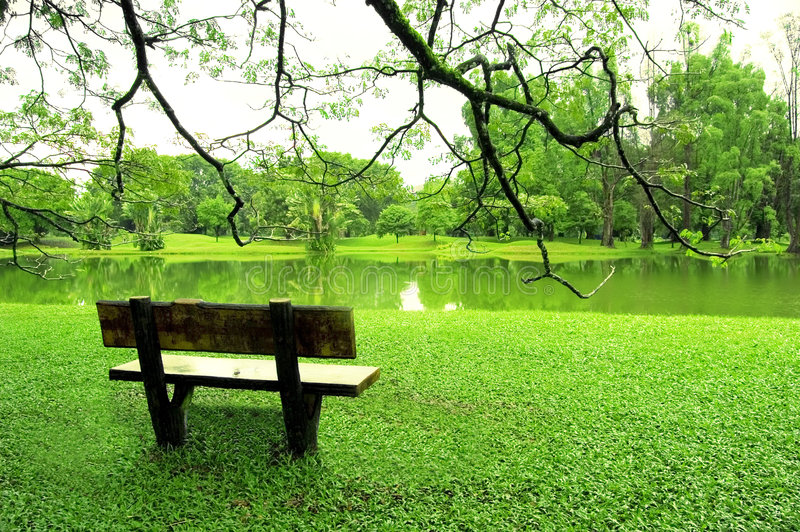 λίμνη κήπων στοκ εικόνα