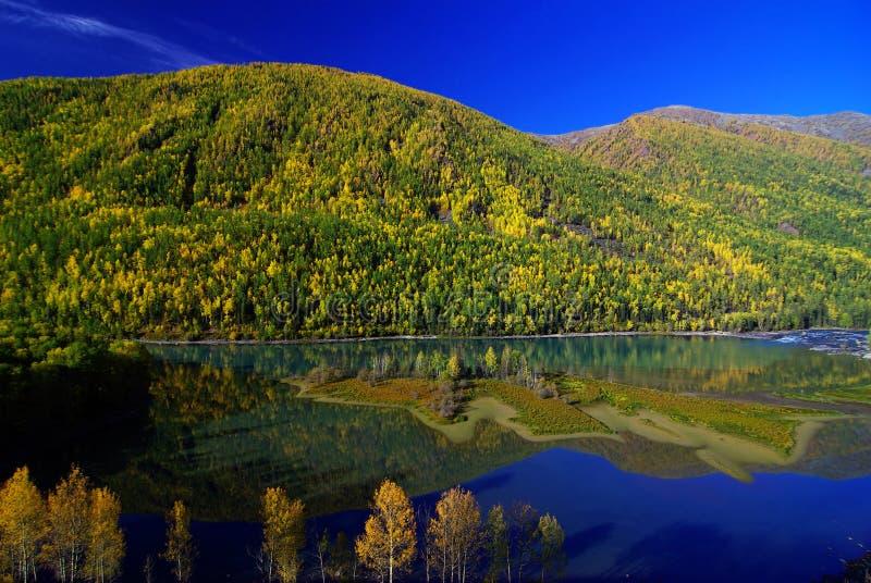 Λίμνη Κίνα Kanas στοκ φωτογραφία