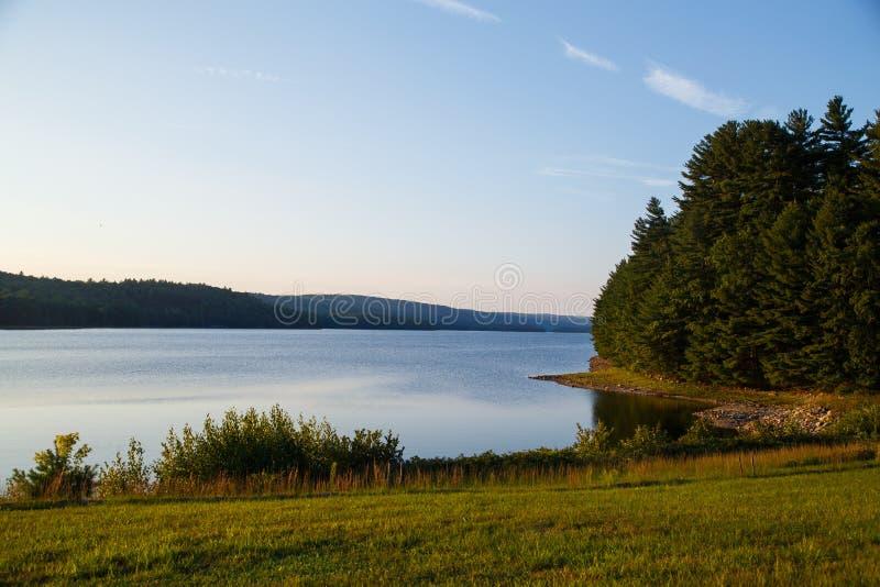 Λίμνη και δάσος στοκ εικόνες