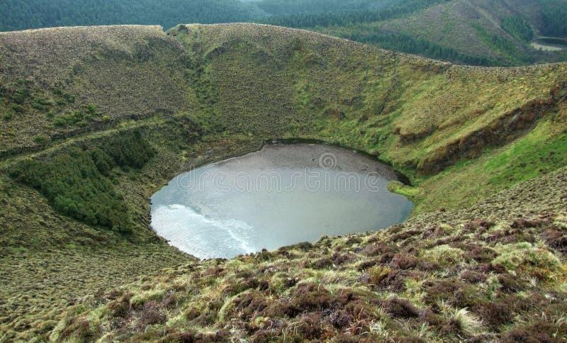 λίμνη κρατήρων των Αζορών στοκ εικόνα
