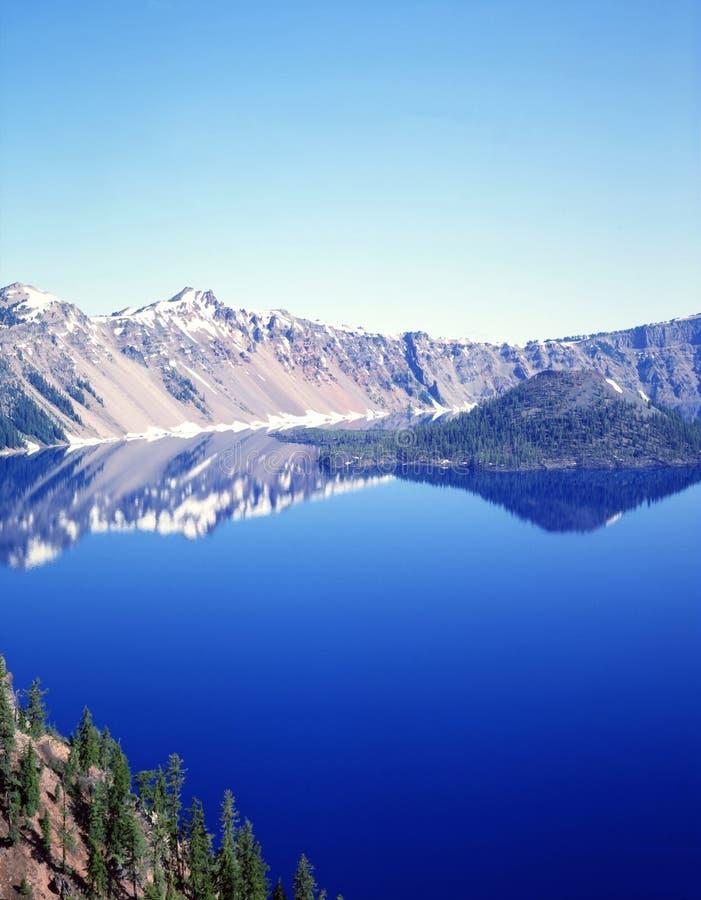 λίμνη κρατήρων στοκ φωτογραφία