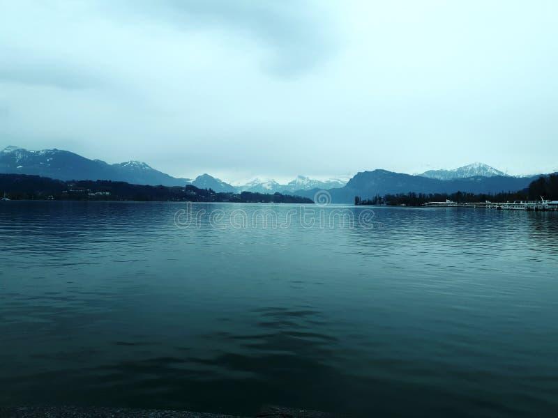 Λίμνη Λουκέρνη στην Ελβετία στοκ εικόνες