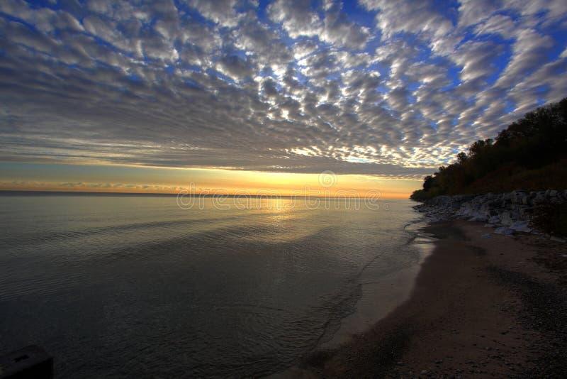 λίμνη Μίτσιγκαν Μιλγουώκι στοκ φωτογραφίες με δικαίωμα ελεύθερης χρήσης