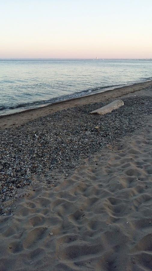 Λίμνη Μίτσιγκαν Beachfront στοκ φωτογραφία με δικαίωμα ελεύθερης χρήσης